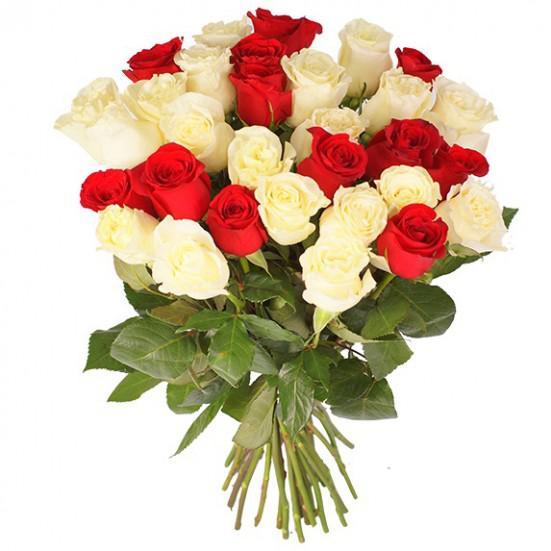 Мелкие букет, голландские розы букеты из 31 штуки