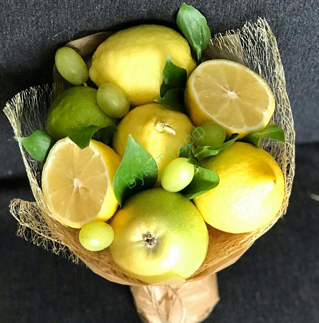 Букет из лимонов как сделать